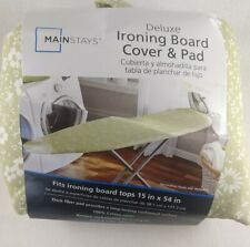 Mainstay 15x54in Deluxe Cotton Ironing Board Cover & Pad