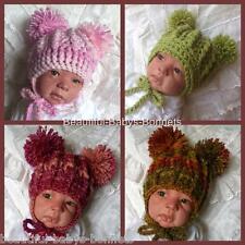 CROCHET PATTERN for Babys Chunky Winter Double Pom Pom Hat 4 Sizes  #41