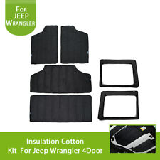 Rear Window & Roof Mesh Hardtop Heat Insulation Cotton Kit For Jeep Wrangler 11+