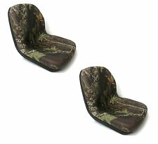 (2) Camo HIGH BACK Seats John Deere Gator UTV 4x2 6x4 Diesel Trail Worksite Turf