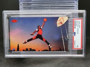 1985 Nike Michael Jordan Promo Card PSA 7 Bulls F8