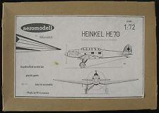 aeromodell  WK 01 - HEINKEL HE 70 - 1:72 - Resin Flugzeug Modellbausatz - Kit