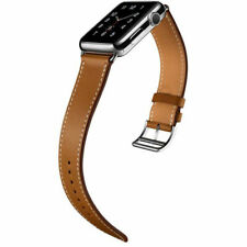 for iWatch Leather Strap Band Herme Belt Pure Brown Apple Watch Series 5 4 3 2 1