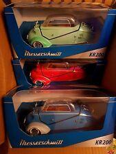 Set of 3 Messerchmits Kabinennroller Kits KR 200 1967 Diecast Model Kit 1/18