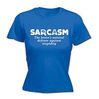 Sarcasm Brains Natural WOMENS T-SHIRT tee birthday funny sarcastic rude gift