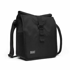 Built NY LBM02-BLK Crosstown Stain Resistant Insulated Lunch Bag with Adjusta...