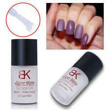 15ml Magic Super Matte Top Coat Frosting Effect Surface Oil Nail Polish Varnish
