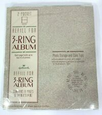 """Hallmark 2-Pocket Refill Pages For 4x6 Photos 8 Pages 3-Ring Album 8.25""""x9.25"""""""