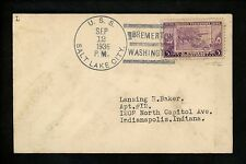 US Naval Ship Cover USS Salt Lake City CA-25 Pre WWII 1936 Bremerton WA
