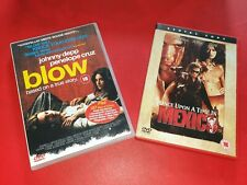 Johnny Depp DVD 2 Film Set BLOW & ONCE UPON A TIME IN MEXICO rental