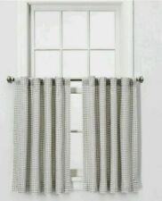 "Threshold 2 Panel 36""x42"" Honeycomb Weave Curtains Gray NEW"