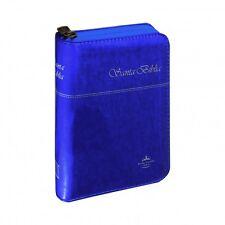 Biblia Reina Valera 1960, Chica, Color Azul Metálico, Cierre, con Índice  #52