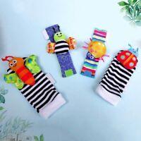 Cotton Rattle Set Baby Sensory Toys Foot-finder Socks Wrist Rattle Bracelet Gift
