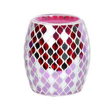 Aroma Electric Wax Melt Burner Tart Warmer Red & Mirror Teardrop Mosaic Design