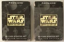 Stars Wars CCG Premiere Limited Edition 1995 Decipher 60 Card Starter Set 2 Lot