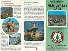 Cape May County New Jersey Vintage 1981 Directory & Map of Private Campgrounds