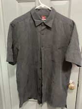 Quiksilver Men's Black Button Up Shirt Medium