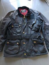 Mens Barbour International Wax Jacket. Size Medium. Black