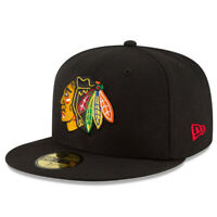Chicago Blackhawks CHI Official NHL New Era 59FIFTY Fitted Cap - 5950 Hat 7 1/8""