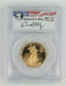 2015-W G$25 American Eagle 1/2 Oz. Graded by PGCS PR70DCAM Moy Signature FDOI