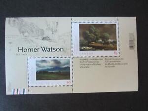 Canada mint never hinged souvenir sheet 2110, Homer Watson art