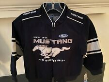 Ford Mustang Twill Embroidered Jacket THE LEGEND LIVES SIZE 6 NWT