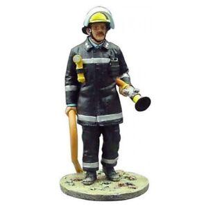 BOM120 London UK tin Lead Firefighter Fireman Figure DelPrado 1:32