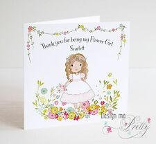 Personalised THANK YOU FOR BEING MY FLOWER GIRL Card - Wedding Thank You