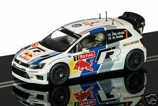 C3524 scalextric slot car volkswagen polo r wrc No.7 rally monte carlo 2013 neuf