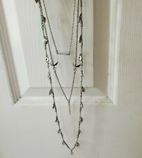 Macy's Lucky Brand Layered Necklace and Rhinestone Earring Set Jewelry