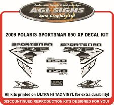2009 POLARIS SPORTSMAN 850 XP DECAL SET  twin stickers reproduction