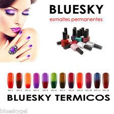 Esmalte permanente BLUESKY termico gel uv/led, cambio de termperatura  -OFERTA-