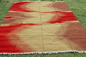 10x14 Vintage Afghan Kilim Hand Woven Wool Garden Area Rug IKAT Kelim Carpet