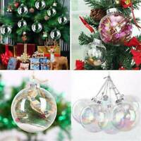 DIY Clear Ball Ornament Fillable Baubles Craft Christmas Tree Decorations