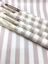 Waverly Wallpaper Lot 4 Double Rolls Wide Awning Stripe Mauve Lilac Off White