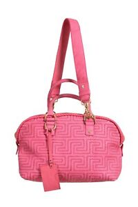 Gianni Versace Couture Quilted Leather Pink Handbag Shoulder Bag