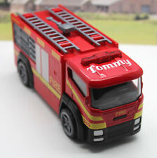 PERSONALISED NAME GIFT Red Fire Engine with Light & Sound Boys Toy Birthday Gift