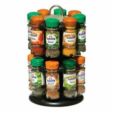 SCHWARTZ 16 SPICES & HERBS WITH TWO TIER REVOLVING STORAGE SPICE RACK STAND