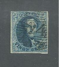 BELGIUM # 4a ( Thick Paper ) Used KING LEOPOLD I  ( 1120 )