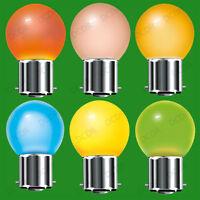 12x 15W Coloured Golf Ball Light Bulbs Red Blue Green Amber Orange Yellow BC B22