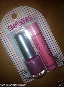 Lip Smacker Cotton Candy Lip Gloss/Balm & Nail Polish 2 pc Set
