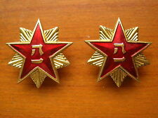 87's series China PLA Army General,Officers,Soldier Collar Metal Tag,Pair