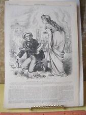 Vintage Print,HERB THAT WILL HEAL,Thomas Nast,Harpers,Politics,Dec 1872