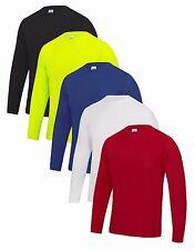 Herren Langarm Atmungsaktiv Wicking Polyester Cool Athletic T-Shirt T-Shirt