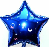 Helium Foil Balloon Disney Minnie Star Blue Mickey Mouse Birthday Party Deco
