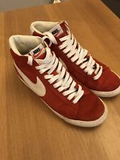 2adeec2ef7b5 NIKE BLAZER Mid Suede Red Trainers Shoes - UK Size 10.5