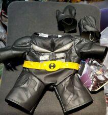 "2009 Build A Bear Workshop Batman Outfit The Dark Knight Rises w/ tags fits 24"""