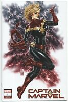 Captain Marvel 1 Marvel 2018 NM Mark Brooks Variant