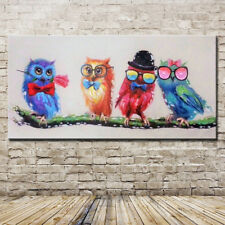 Hand Painting Gentleman Bird Modern Abstract Oil Painting On Canvas Home Decor