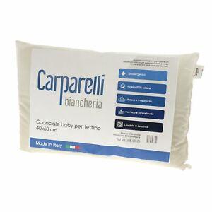 Cuscino per lettino Culla Guanciale Baby Anallergico 100% Cotone Made in Italy